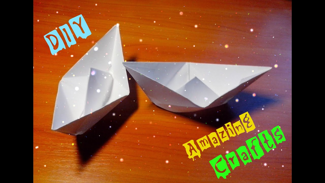 DIY Easy Paper Ship Origami Boat For Children And Beginners Step By Tutorial Kids Craft
