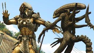 GTA 5 - ALIEN VS PREDATOR MOD! (GTA 5 PC Mods)