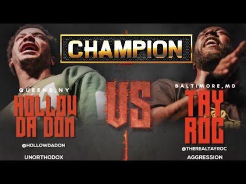 CHAMPION | HOLLOW DA DON VS TAY ROC - SMACK URL