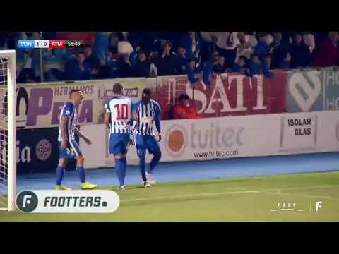 Gol de Yuri. Ponferradina 1-0 Atlético B