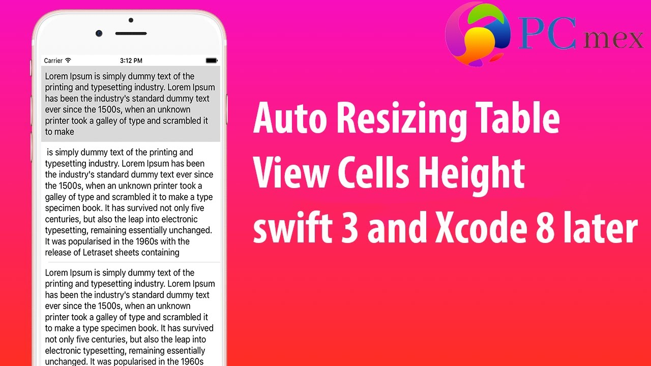 Auto Resizing Table View Cell height in swift 3 and Xcode