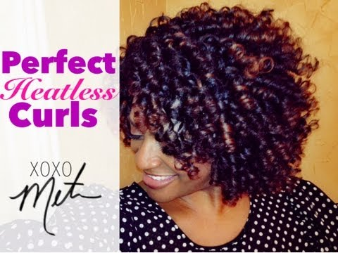(28) Natural Hair Tutorial ~ Perfect Heatless Curls ~ Flexi Rod Set on Medium Length Hair