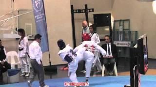 (5032) 46kg Seyda Selcuk vs Ayse Sumeyra Alici (2016 Turkish Junior TKD championships)