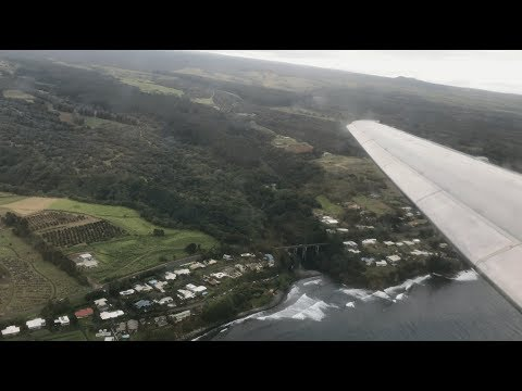Hawaiian Airlines Boeing 717-200 Amazing Approach & Landing at Hilo Airport
