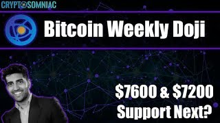 Bitcoin weekly doji confirmed   $7600 & $7200 support   Wyckoff Distribution in play?
