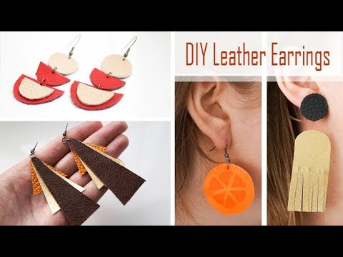 DIY Leather Earrings | 15-MINUTE CRAFTS! | 4 x Fun Jewellery Designs to Make