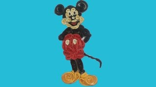 Mickey Mouse With Quilling. Made Quilling Easy