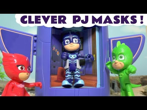 PJ Masks toy stories with Thomas and Friends toy trains and Play Doh - Fun toys for kids TT4U