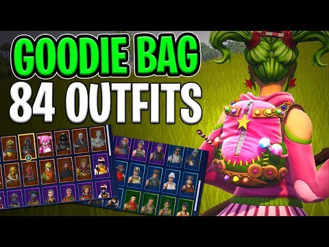 Goodie Bag Back Bling on 84 Outfits - Fortnite Cosmetics