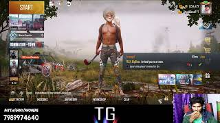 PUBG MOBILE Only Chicken Dinner Game Telugu Gamer Playing With ultra Pro Players