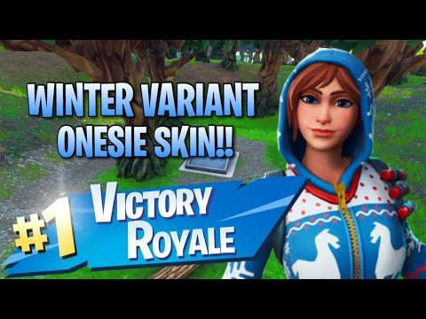 New Winter Onesie Variant!! 11 Elims!! - Fortnite: Battle Royale Gameplay