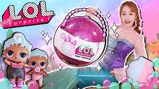 美人魚基尼的LOL珍珠限量版驚喜蛋故事 泡澡球 玩水游戲-基尼