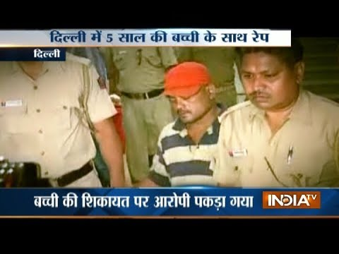 5-year-old girl raped inside Delhi school, peon arrested