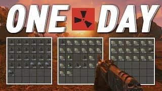 RUSTㆍThe Most Loot Gathered Ever In ONE DAY (Vanilla Survival) [1/2]
