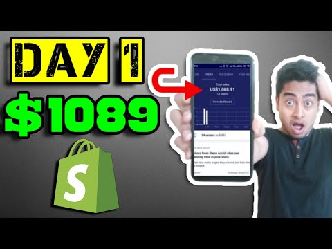 How I Made $1089 My FIRST DAY with shopify Dropshipping store(beginners MUST watch this) thumbnail