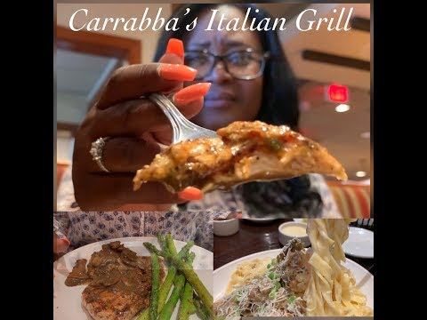 Come Dine With Us At Carrabbas/ Eating Show