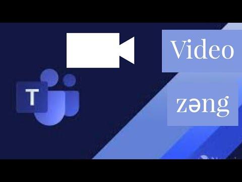 Virtual Məktəb -Microsoft Teams Video Zəng Funksiyaları (Qrup Və Fərdi Zəng, Arxa Fon Dəyişmək Və S)