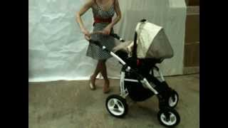 Установка автокресла коляски 3в1 на раму(Детский интернет магазин http://kpoxa74.ru Общий принцип коляски 3в1: автокресло 0-10 кг устанавливается на шасси..., 2013-04-10T14:44:49.000Z)