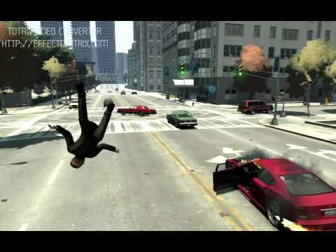 Вот так надо выходить из горящей машины в GTA 4