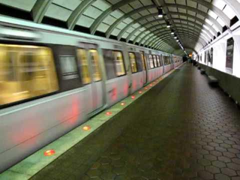Washington Metro Red Line train departs Wheaton station