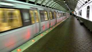Washington Metro Red Line train departs Wheaton station