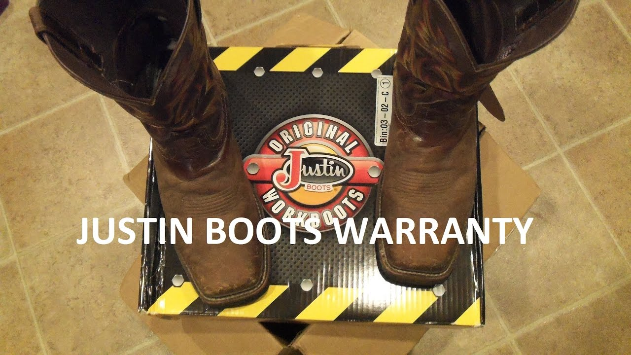 Justin Boots Warranty - YouTube