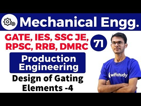 1:40 PM - Mechanical by Vishal Sir | Production Engineering | Design of Gating Elements-4