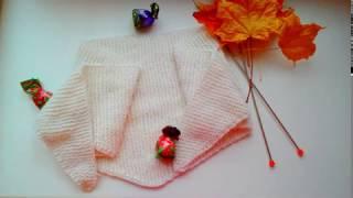 Вязание спицами. Бактус платочной вязкой для начин