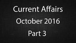 Current Affairs October 2016 Part 3