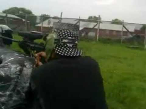 Playing At Crossfire Paintball Arena In Michigan Part 1
