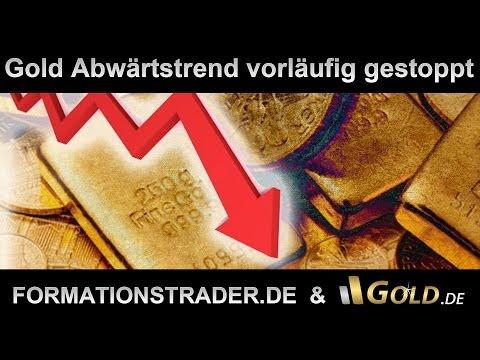 Gold Abwärtstrend vorläufig gestoppt, Palladium bricht aus