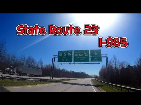 GoPro: Driving Georgia State Route US-23 and  I-985 Freeway