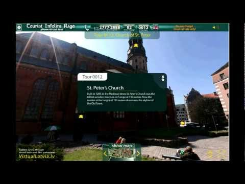 Virtual guided tour of Riga by Tourist Information line