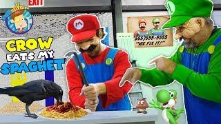 Mario Bros Fix Up Old Baldi's Basics School: Crow Vs Crowbar (funnel Family Skit Vision)