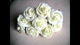 Как вернуть прежнюю форму примятым розам из фома
