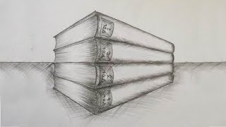How to Draw a Stack of Books | book drawing | drawing for beginners