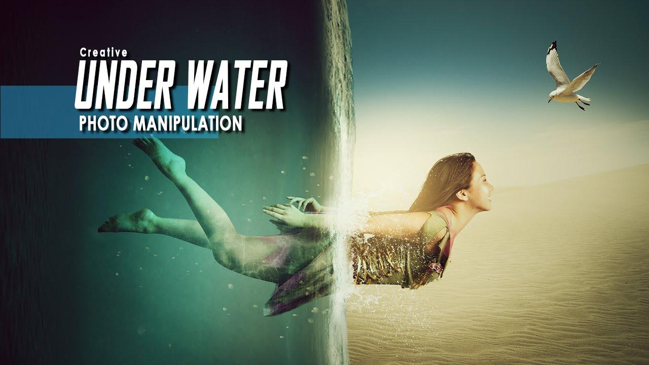 making creative under water manipulation scene effect in photoshop