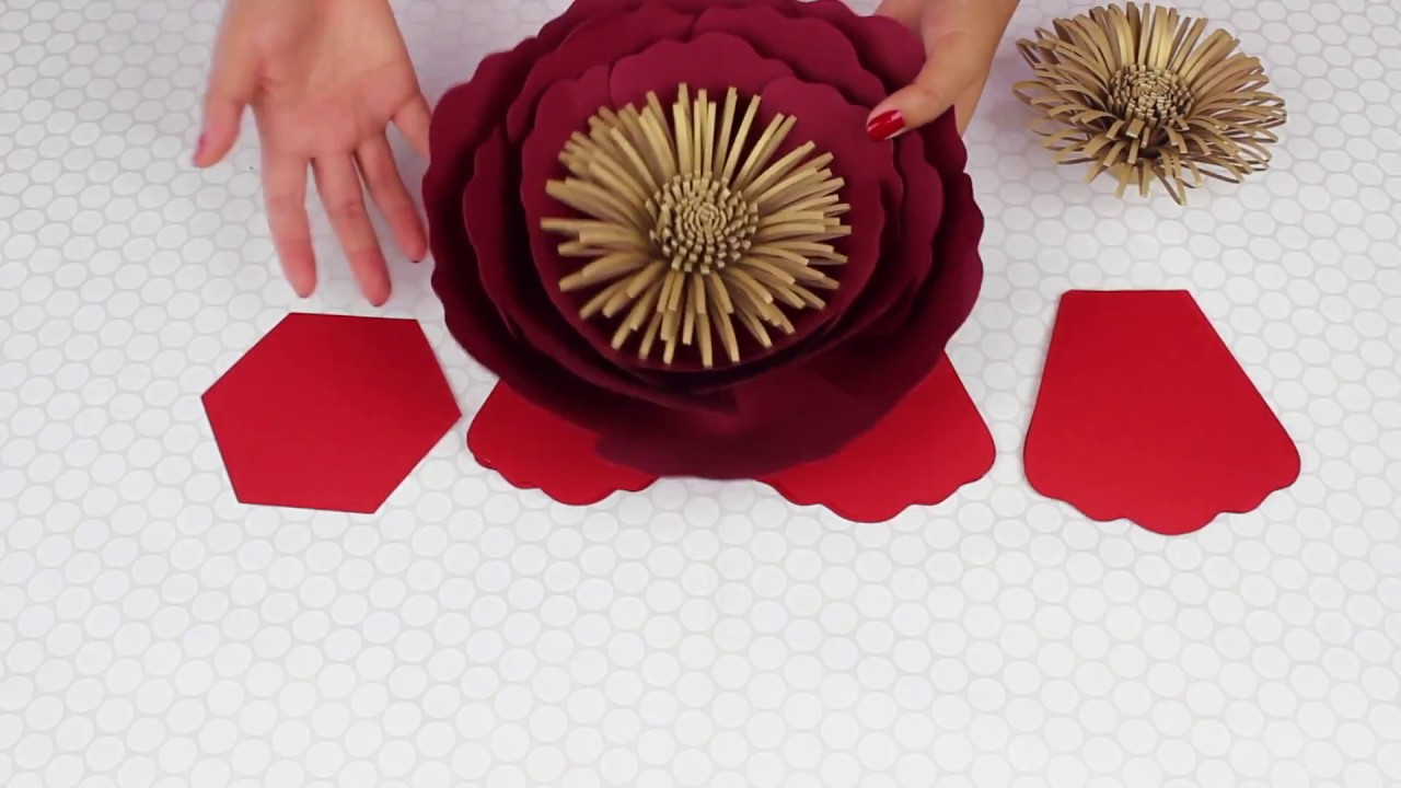 Paper flower tutorial template 16 youtube paper flower tutorial template 16 pronofoot35fo Choice Image