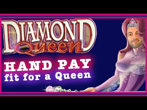 HAND PAY fit for a Queen! ✦ HIGH LIMIT Diamond Queen ✦ Slot Machine Pokies in Las Vegas