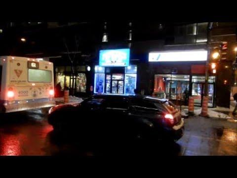 WALKING ROBERT-BOURASSA STREET IN DOWNTOWN MONTREAL CANADA  -01-03-18