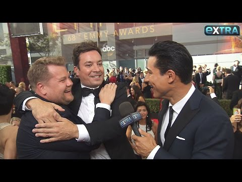 Jimmy Fallon Crashes James Corden's Interview on the Emmys Red Carpet