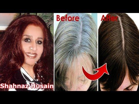 Shahnaz Husain Hair Tips For Grey Hair~Permanently Turn Grey(White) Hair into Black hair~Priya Malik