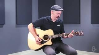 Yamaha FX370C F SERIES Cutaway Acoustic-Electric Guitar