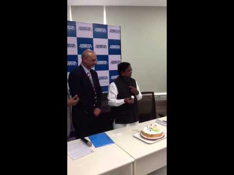 ADTRAN India Design Center Inauguration Birthday cake to IT