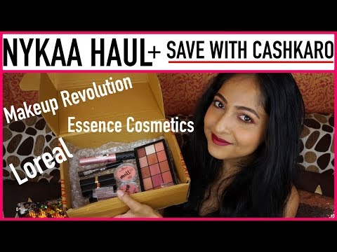 NYKAA HAUL & Get CASHBACK With CASHKARO 😃| L'Oreal, Essence, Makeup Revolution | Stacey Castanha