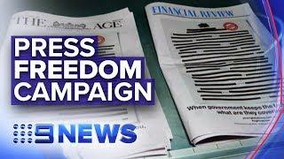Australian media companies unite for press freedom campaign | Nine News Australia