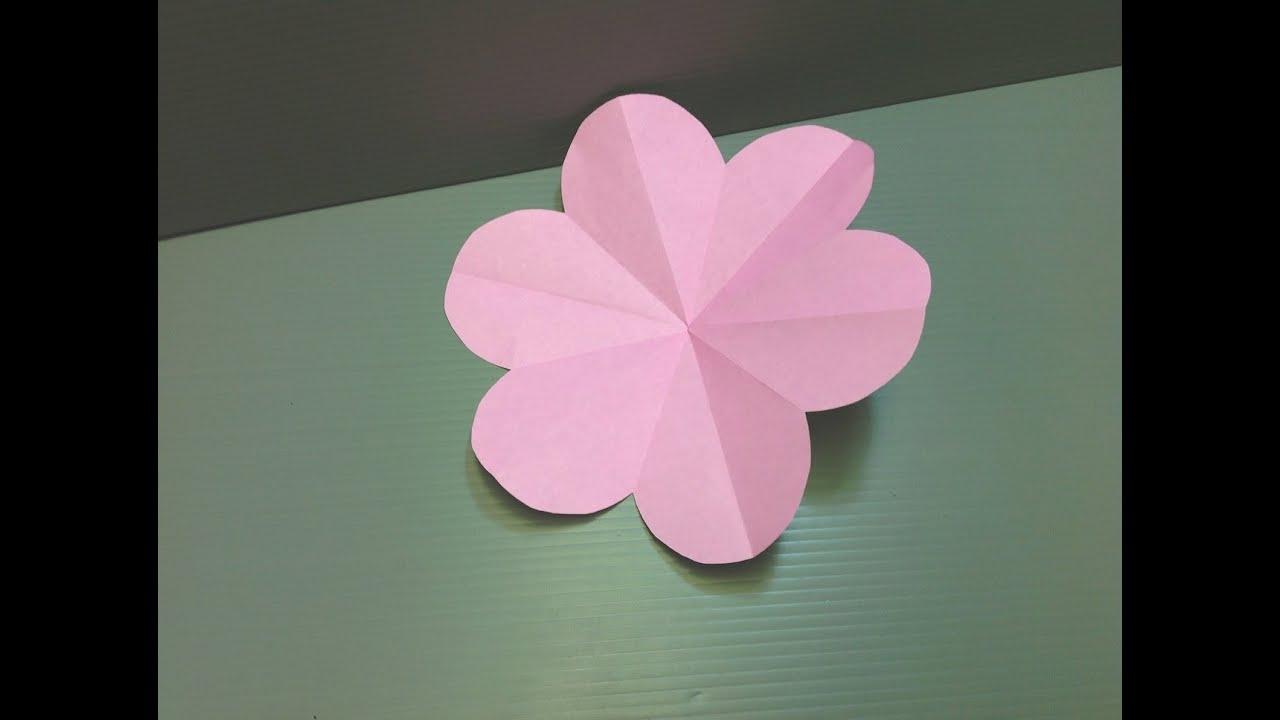 Origami Peach Blossom Flower