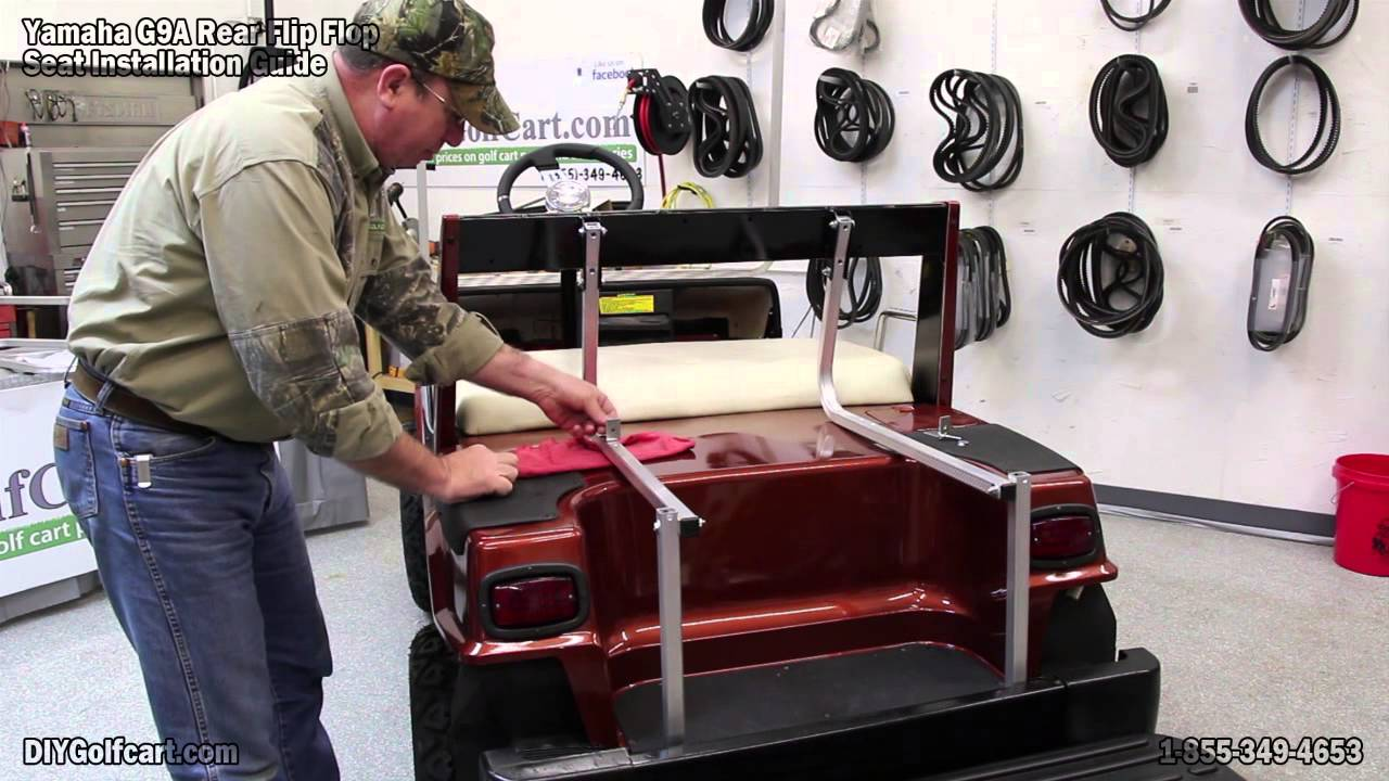 Yamaha G9 Rear Seat | How to Install on Golf Cart - YouTube on