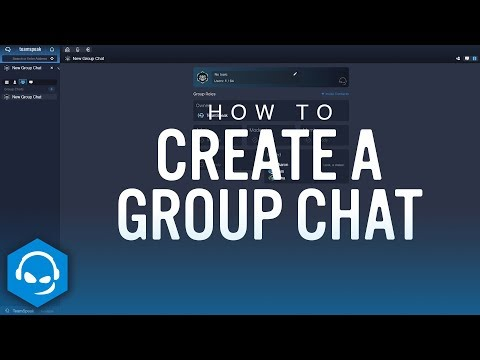 How to Create a Group Chat on TeamSpeak Mp3