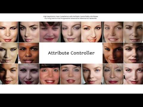 High Resolution Face Completion: Attribute Controller